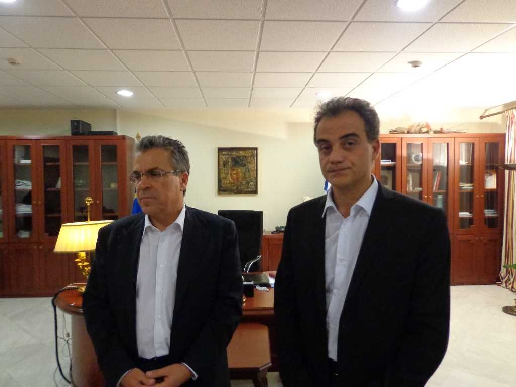 Συνάντηση Καρυπίδη - Ντινόπουλου  για το θέμα των επικίνδυνων βιομηχανικών αποβλήτων