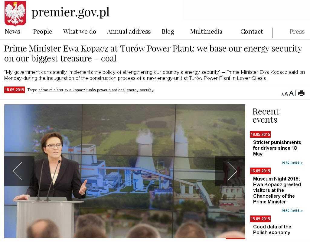 Νέο λιγνιτικό εργοστάσιο ηλεκτροπαραγωγής θεμελιώθηκε προχθές στην Πολωνία. Η Πτολεμαΐδα 5 πότε με το καλό;