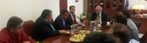 Συνάντηση υφυπουργού Επικρατείας Τέρενς Κουϊκ με τον Περιφερειάρχη Δυτικής Μακεδονίας