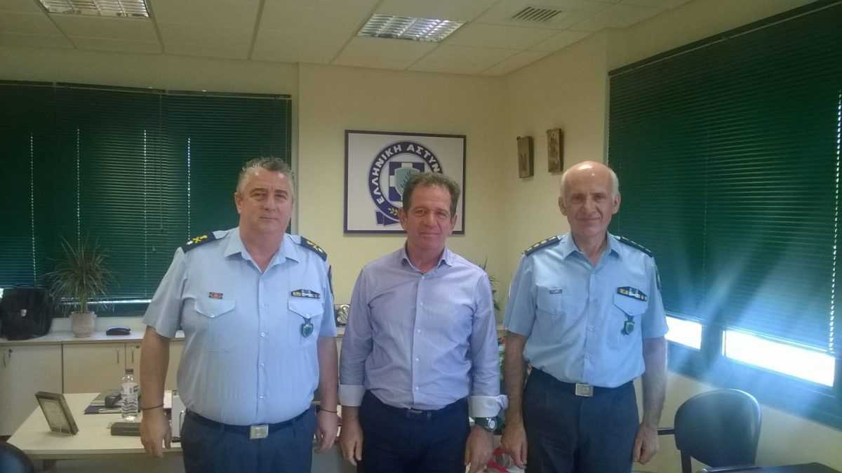 Eπίσκεψη Μίμη Δημητριάδη στην Αστυνομική Δ/νση Κοζάνης και στο αστυνομικό τμήμα Πτολεμαΐδας.