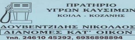 ΠΡΑΤΗΡΙΟ ΥΓΡΩΝ ΚΑΥΣΙΜΩΝ ΔΟΥΒΕΝΤΖΙΔΗ ΝΙΚΟΛΑΟΥ