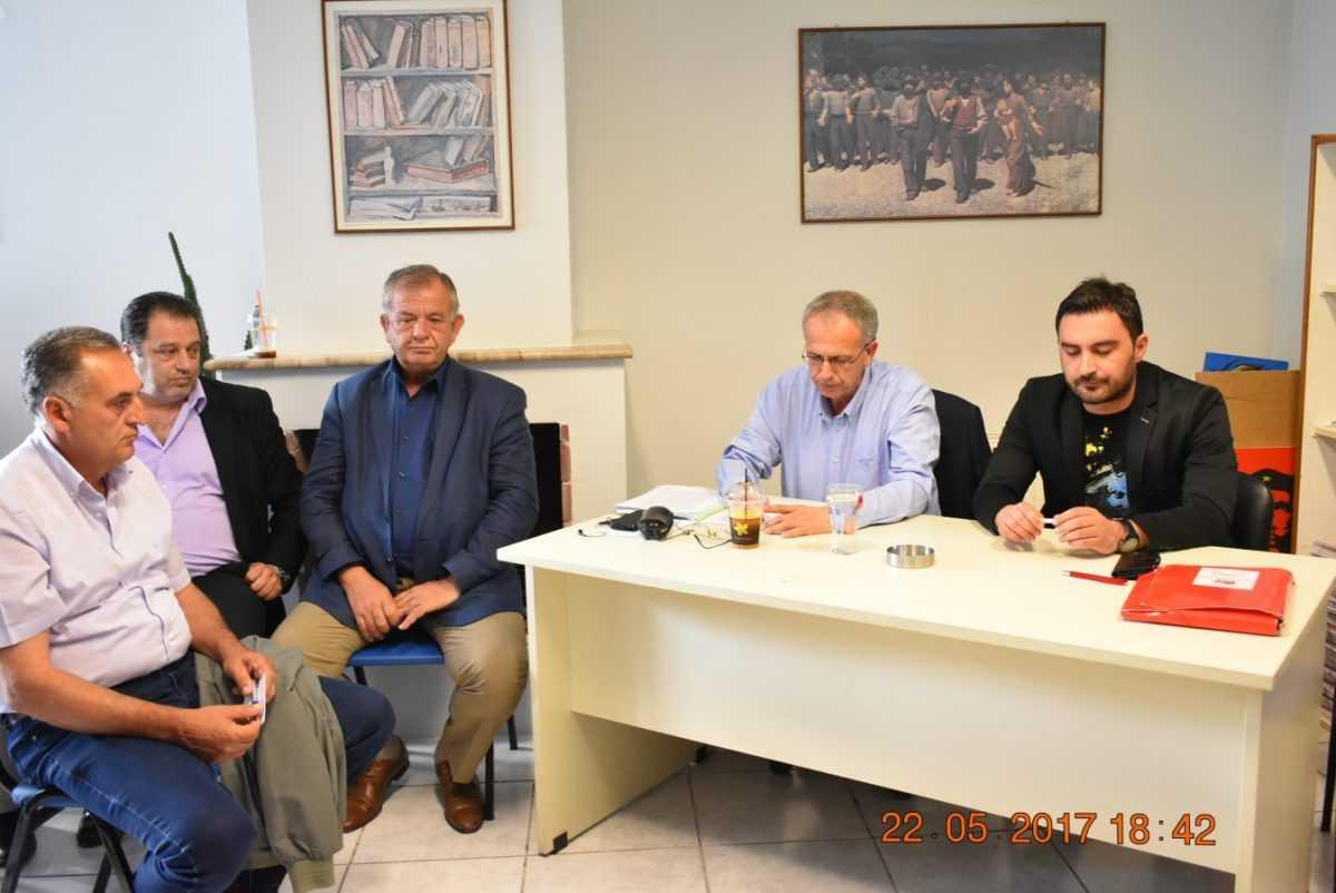 ΣΥΣΚΕΨΗ ΤΟΥ ΠΑΝΟΥ ΡΗΓΑ ΜΕ ΝΕ και ΟΜ Κοζάνης, βουλευτές και στελέχη του ΣΥΡΙΖΑ Κοζάνης