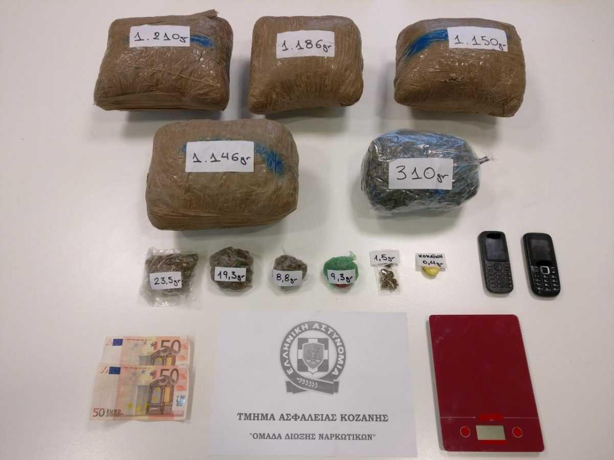 Σύλληψη τριών ημεδαπών σε περιοχή της Κοζάνης για διακίνηση -5- κιλών και -64,4- γραμμαρίων ακατέργαστης κάνναβης