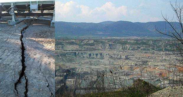 Ανησυχία από ρωγμές στο Ορυχείο Αμυνταίου – Σε επιφυλακή το ΛΚΔΜ
