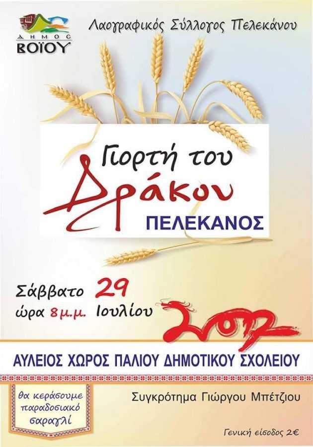Γιορτή του Δράκου στον Πελεκάνο Βοΐου 29/7/2017