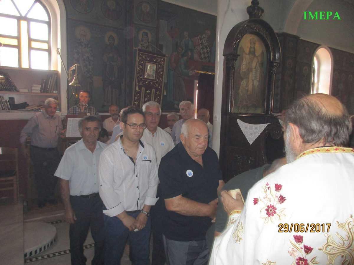 Συμμετοχή πολλού λαού στο ιερό πανηγύρι  των Αποστόλων Πέτρου και Παύλου στην Ίμερα και Αύρα  της Ιεράς Μητροπόλεως Σερβίων και Κοζάνης.