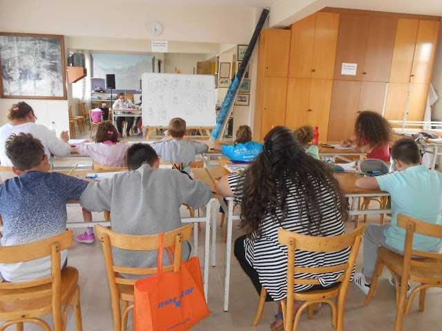 Μαθήματα σκίτσου στην Εύξεινο Λέσχη Ποντίων Βοίου Νεάπολης Κοζάνης για την περίοδο 2017-2018