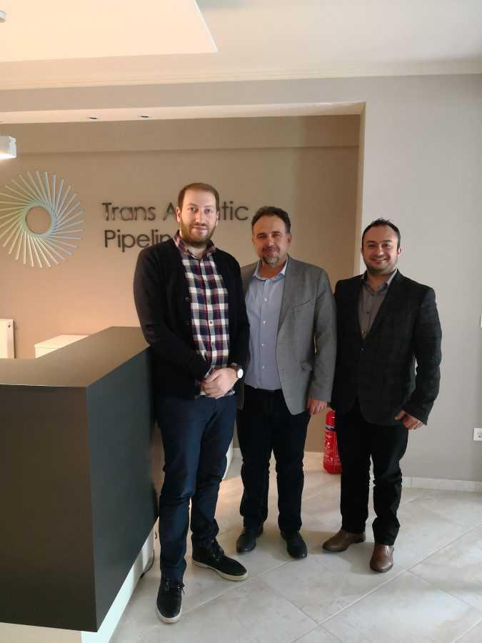 Επίσκεψη της Διοίκησης του Επιμελητηρίου Κοζάνης  σε Διευθυντικά στελέχη του έργου του Διαδραστικού Αγωγού Φυσικού Αερίου  Trans Adriatic Pipeline- TAP