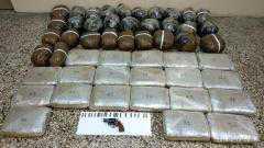 Διακίνηση ναρκωτικών ουσιών και παράβαση του νόμου περί όπλων. Συνελήφθησαν 2 νεαρά άτομα με 61 κιλά ακατέργαστη κάνναβη