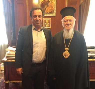 Συνάντηση στο Φανάρι, του Βουλευτή Κοζάνης Θέμη Μουμουλίδη, με την ΑΘΠ τον Οικουμενικό Πατριάρχη κ.κ. Βαρθολομαίο.