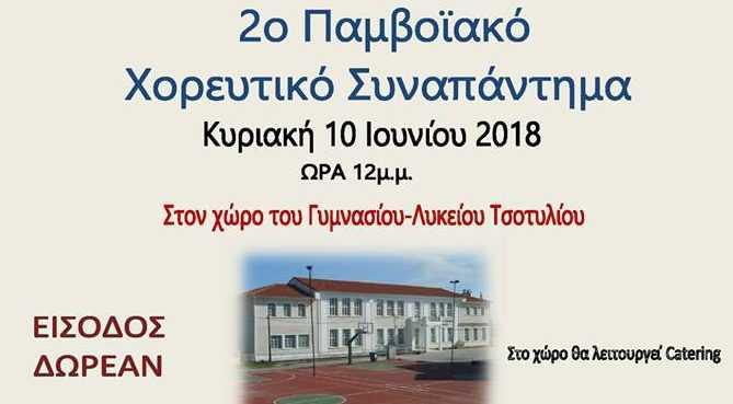 2ο Παμβοϊακό Χορευτικό Συναπάντημα Κυριακή 10 Ιουνίου στο Τσοτύλι