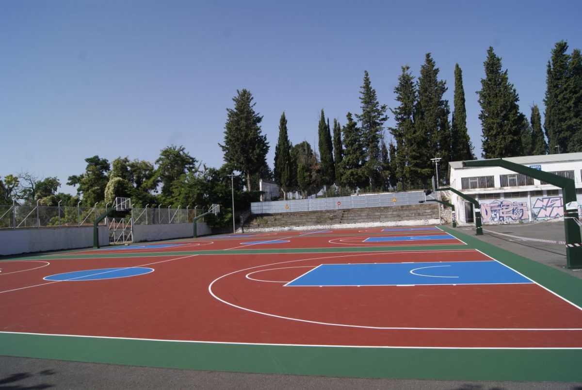 Το ΔΑΚ αλλάζει! Ολοκληρώνονται οι εργασίες στα εξωτερικά γήπεδα μπάσκετ
