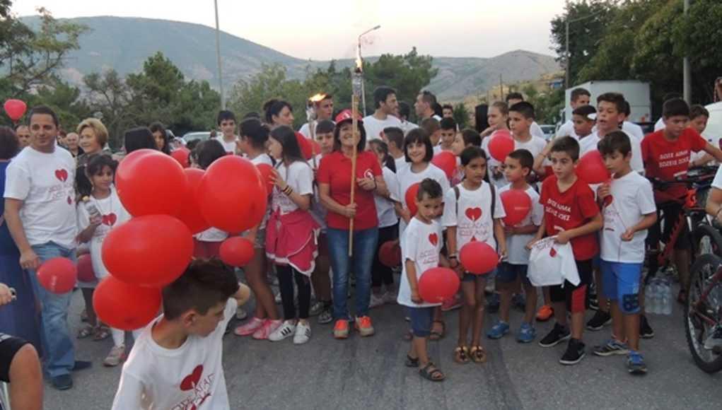 Εκδηλώσεις υποδοχής της 16ης Πανελλήνιας Λαμπαδηδρομίας Συλλόγων Εθελοντών Αιμοδοτών στην Σιάτιστα