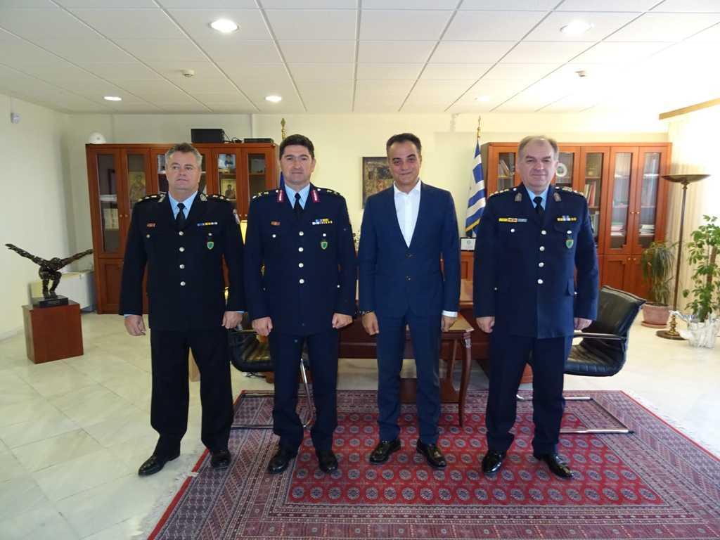 Εθιμοτυπική επίσκεψη του νέου Γενικού Περιφερειακού Αστυνομικού Διευθυντή  Δυτικής Μακεδονίας στον Περιφερειάρχη Θ. Καρυπίδη