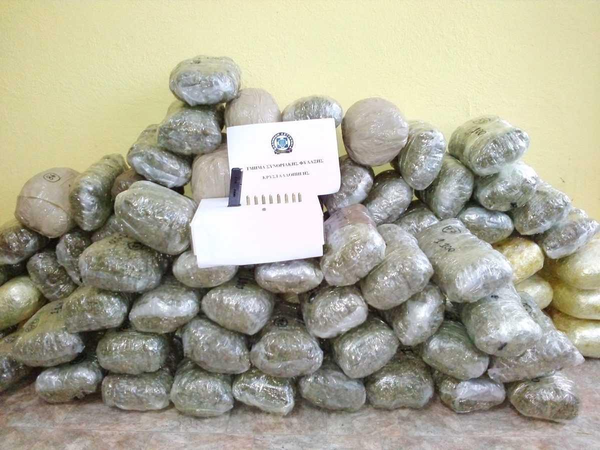 Εντοπίστηκε - κατασχέθηκε ποσότητα κάνναβης περίπου εκατό κιλών στη Φλώρινα και συνελήφθη ένα άτομο