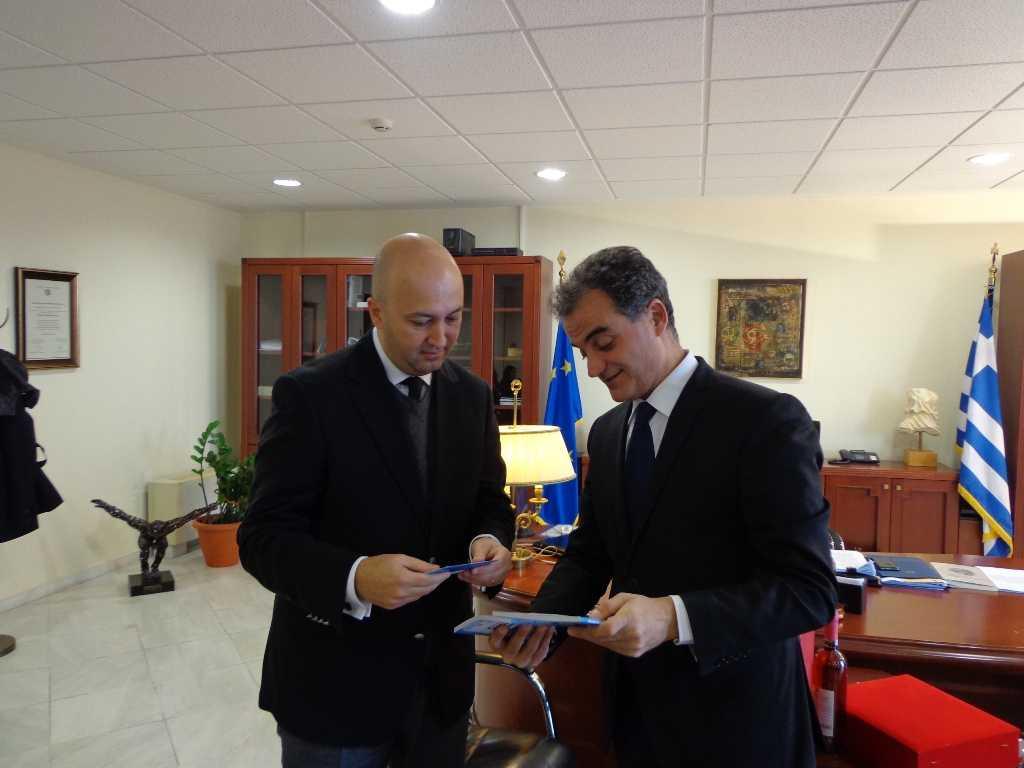 Επίσκεψη του Γενικού Πρόξενου της Τουρκίας στη Θεσσαλονίκη,  στον Περιφερειάρχη Θεόδωρο Καρυπίδη