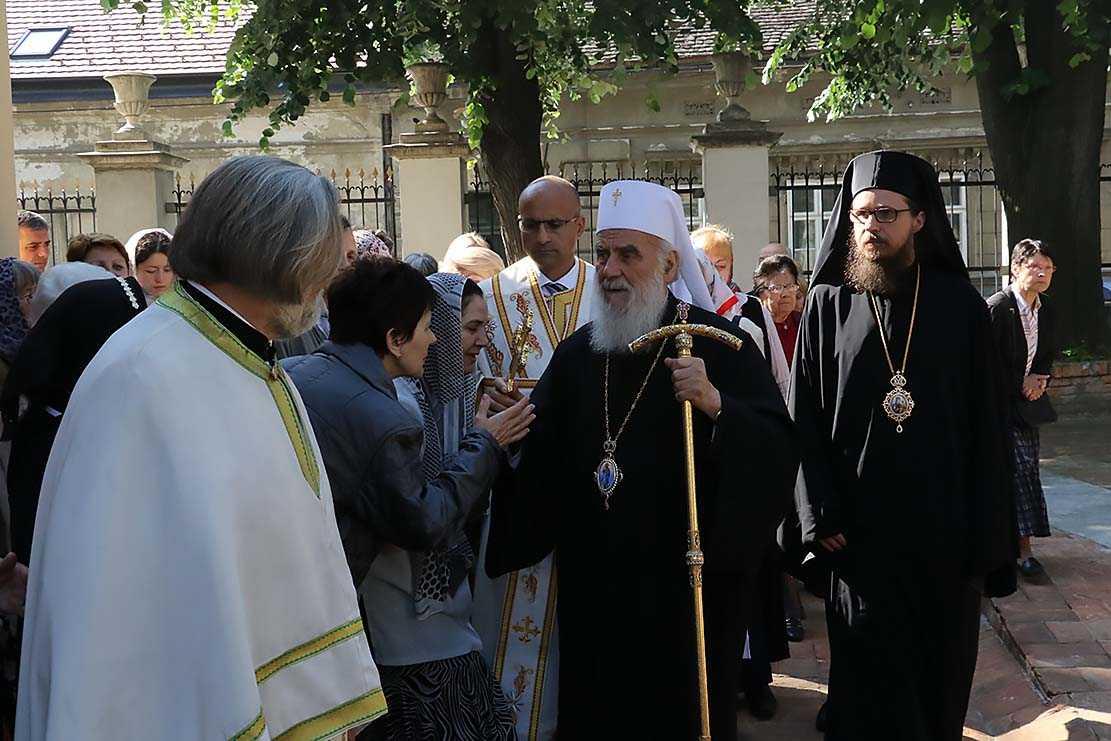 Ο Σερβίας κ.κ.Ειρηναίος στο παραδουνάβιο Σέμλινο με τον Στόβων κ.Δαυίδ.