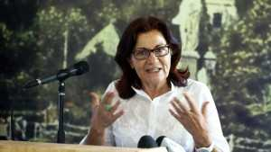 Η αναπληρώτρια υπουργός Κοινωνικής Αλληλεγγύης Θεανώ Φωτίου μιλάει στη συνέντευξη Τύπου για την παρουσίαση του 1ου λεωφορείου - κινητής μονάδας ατομικής υγιεινής για τους αστέγους της Αθήνας, την Τετάρτη 29 Ιουνίου 2016. Η MKO PRAKSIS με την ευγενική χορηγία της ΠΑΠΑΣΤΡΑΤΟΣ και την υποστήριξη του Υπουργείου Εργασίας, Κοινωνικής Ασφάλισης και Κοινωνικής Αλληλεγγύης, σε συνεργασία με τον ΟΑΣΑ και τον ΟΣΥ, παρουσίασαν το 1ο λεωφορείο- κινητής μονάδας ατομικής υγιεινής για τους αστέγους της Αθήνας  στο χώρο του Ζαππείου. ΑΠΕ-ΜΠΕ/ΑΠΕ-ΜΠΕ/ΣΥΜΕΛΑ ΠΑΝΤΖΑΡΤΖΗ