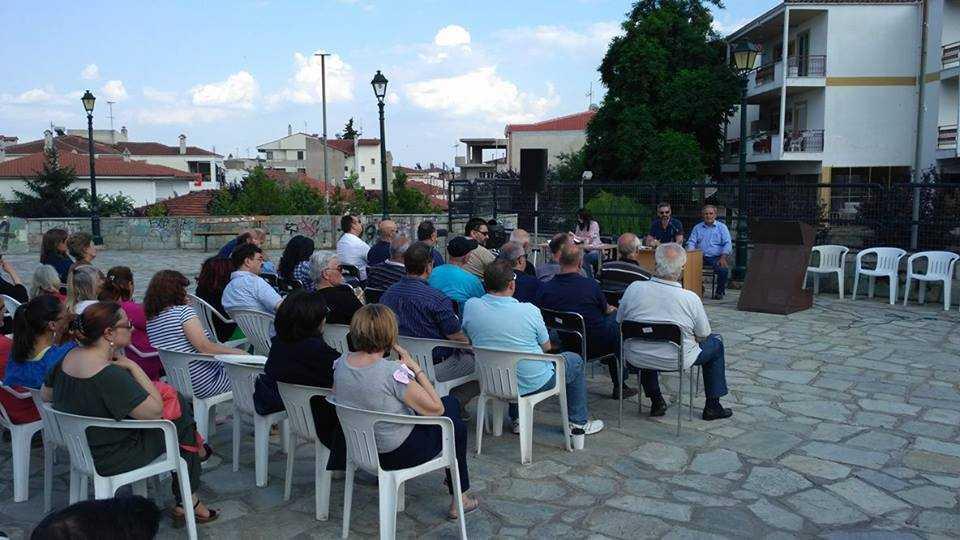 Λαϊκή συνέλευση πραγματοποιήθηκε στην πλατεία της Σκ΄ρκας, πρώτη από μια σειρά συνελεύσεων στην πόλη της Κοζάνης.