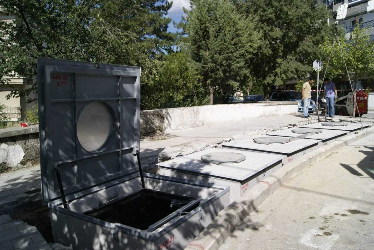 Τοποθετήθηκαν οι πρώτοι υπόγειοι κάδοι στην Κοζάνη