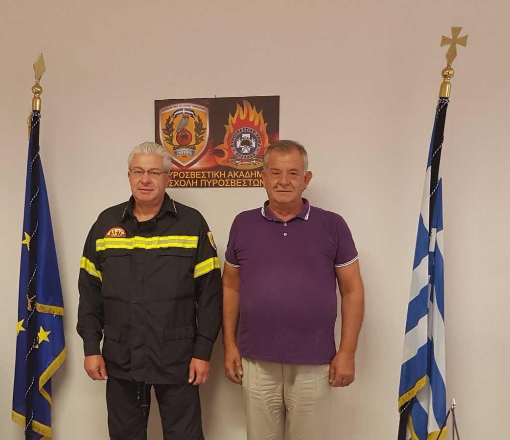 Επίσκεψη του Βουλευτή ΣΥΡΙΖΑ Κοζάνης Γ. Ντζιμάνη στο Παράρτημα της Πυροσβεστικής Ακαδημίας στην Πτολεμαϊδα