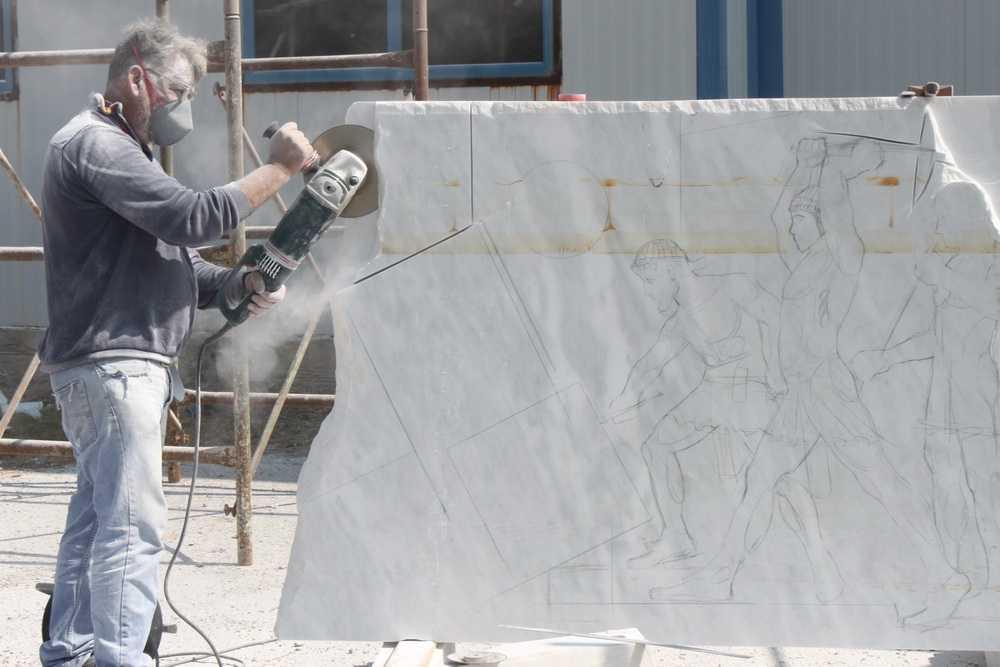 Ξεκίνησαν οι εργασίες του 1ου Συμποσίου Γλυπτικής στο Τρανόβαλτο Κοζάνης (ΦΩΤΟ-ΒΙΝΤΕΟ)