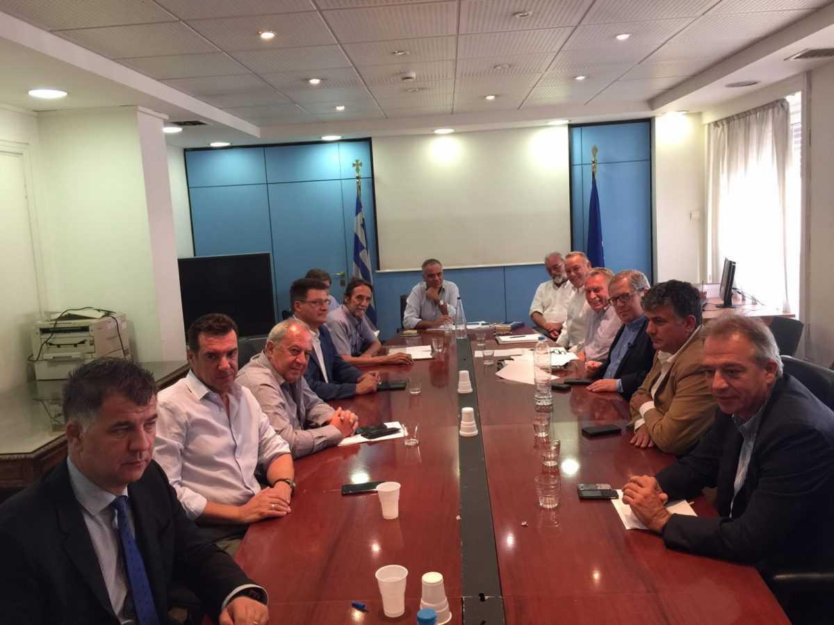 Συνάντηση Αντιπεριφερειαρχών με τον Υπουργό Εσωτερικών  Πάνο Σκουρλέτη.