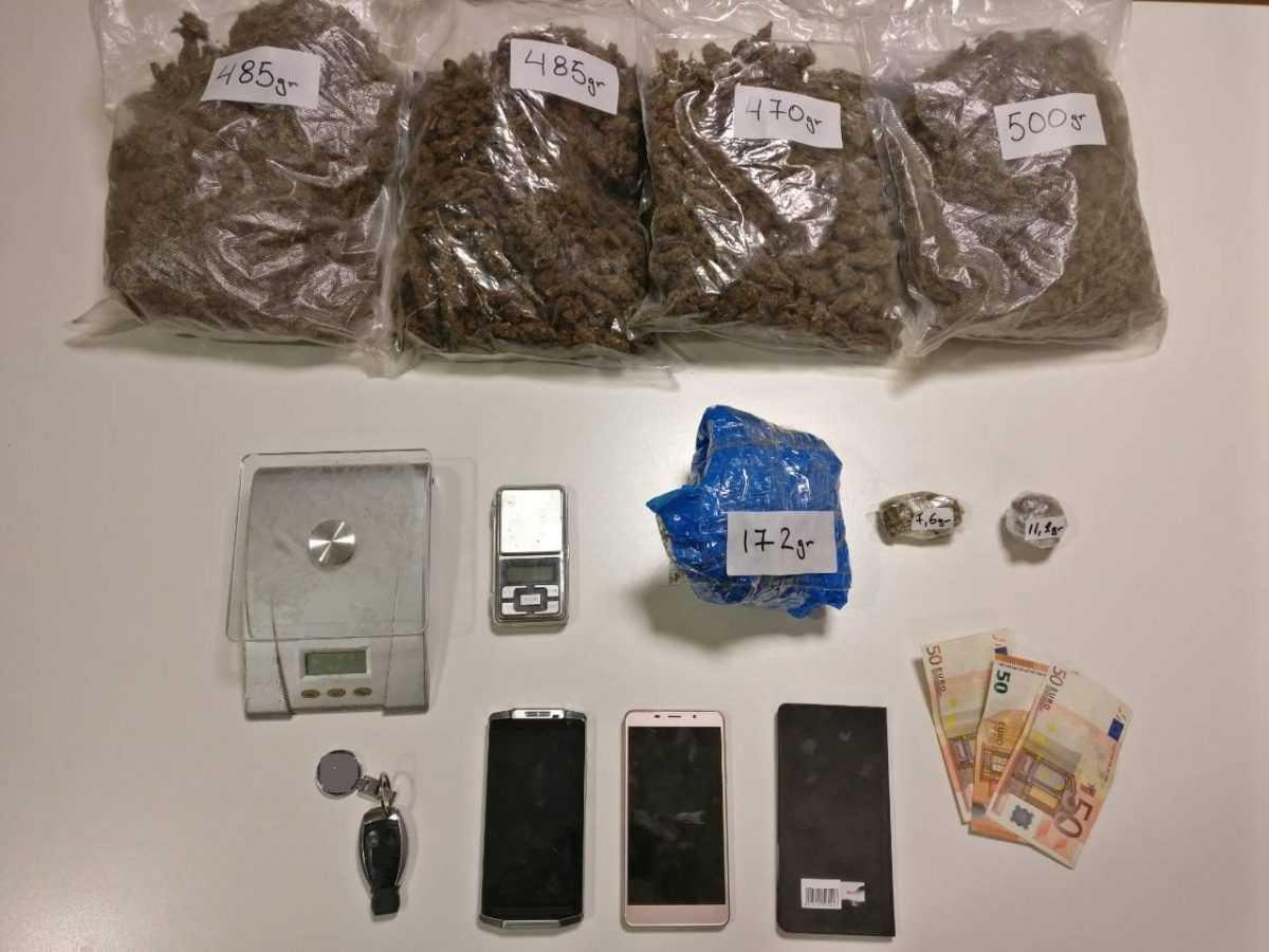 Συνελήφθη 45χρονος από την  Ομάδα Δίωξης Ναρκωτικών του Τμήματος Ασφάλειας Κοζάνης την ώρα που πουλούσε 1 κιλό και 940 γρ. κάνναβης