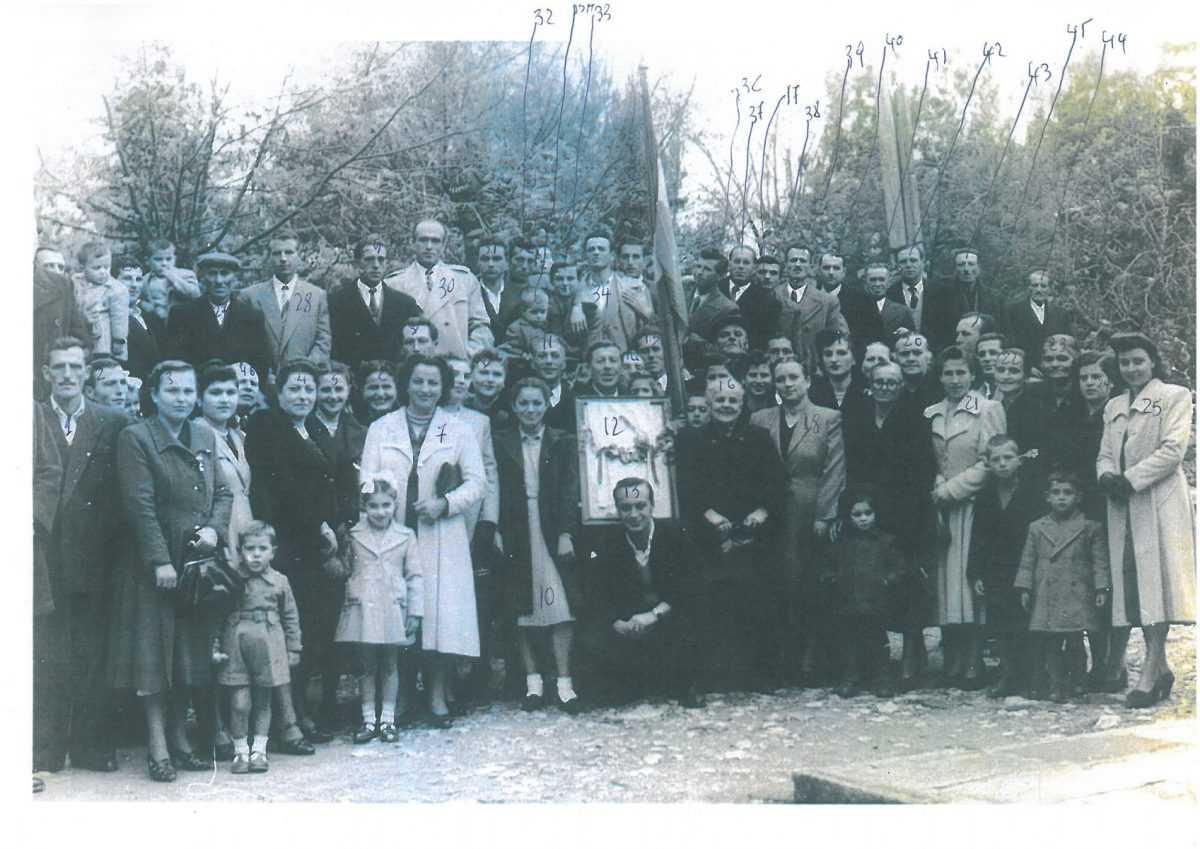 ΜΙΑ ΦΩΤΟΓΡΑΦΙΑ ΤΩΝ ΚΡΕΟΠΩΛΩΝ ΚΟΖΑΝΗΣ ΤΟΥ 1950  ΣΤΗ ΓΙΟΡΤΗ ΤΟΥ ΠΡΟΣΤΑΤΗ ΤΟΥΣ ΑΡΧΑΓΓΕΛΟΥ ΜΙΧΑΗΛ