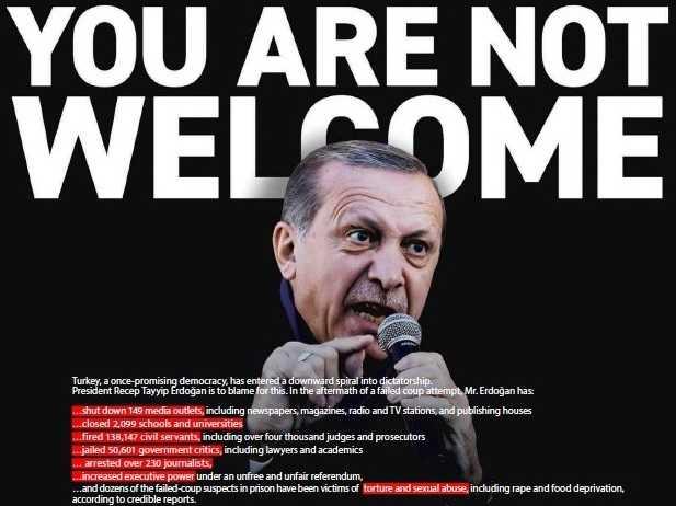 Διαδικτυακή εκστρατεία ενάντια  στην επίσκεψη Ερντογάν στην Ελλάδα. Συλλογή υπογραφών.