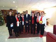 Τα Πρωτοχρονιάτικα Κάλαντα έψαλαν την Παρασκευή 29 Δεκεμβρίου στον Περιφερειάρχη Δυτικής Μακεδονίας Θ. Καρυπίδη