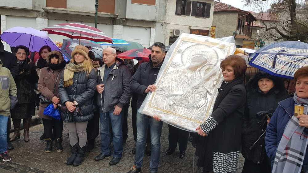 Υποδοχή της Ιερής Εικόνας Παναγίας Ελεούσας Μικροκάστρου στη Σιάτιστα