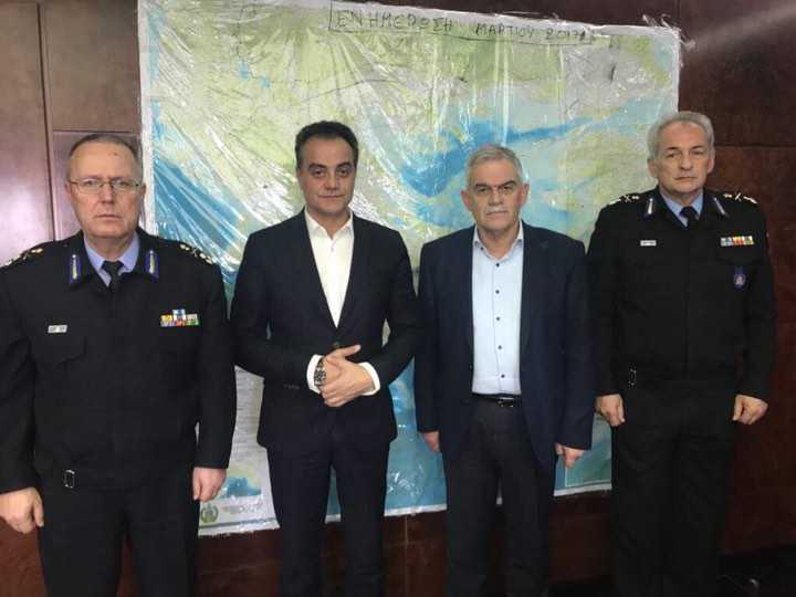 Πλήρης στήριξη του Υπουργού Ν. Τόσκα και του νέου Αρχηγού Σ. Τερζούδη,  στις πρωτοβουλίες του Περιφερειάρχη Θ. Καρυπίδη,  για τη Σχολή Πυροσβεστών και τα θέματα Πολιτικής Προστασίας