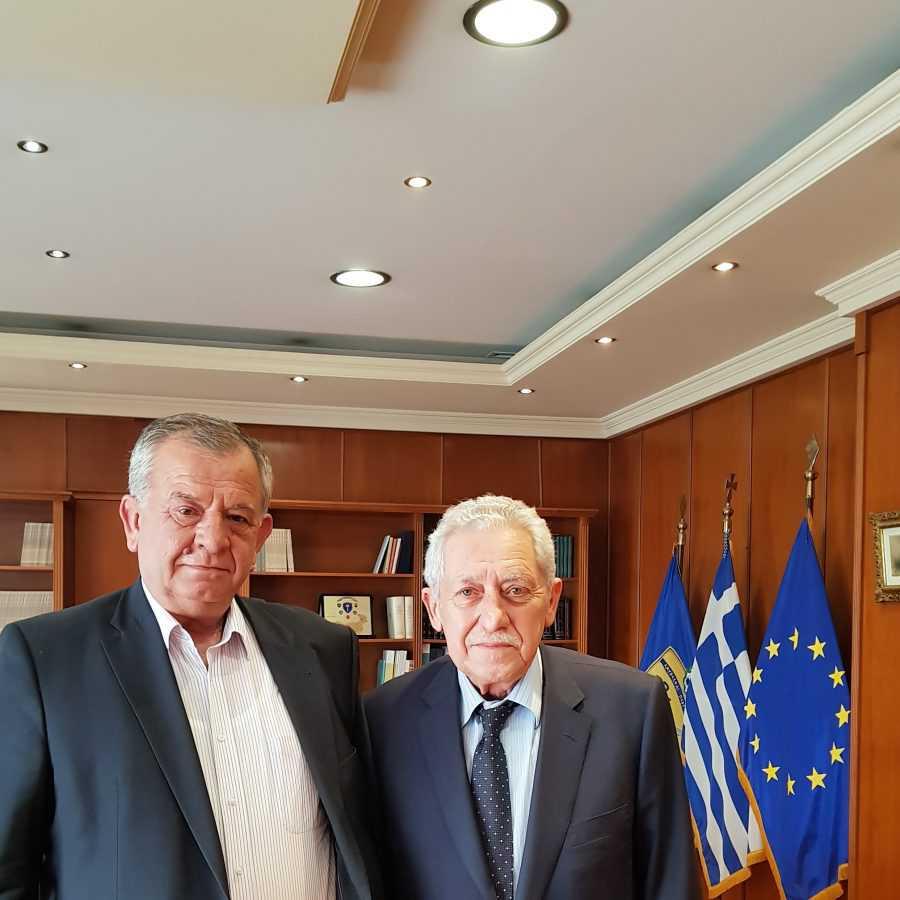Συνάντηση Ντζιμάνη με τον Αναπληρωτή Υπουργό Εθνικής Άμυνας.