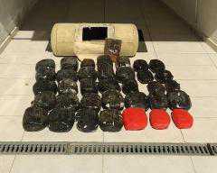 43χρονος και 37χρονη υπήκοοι Αλβανίας συνελήφθησαν γα διακίνησης ακαέργαστης κάνναβης 31 κιλών και 944 γραμ.