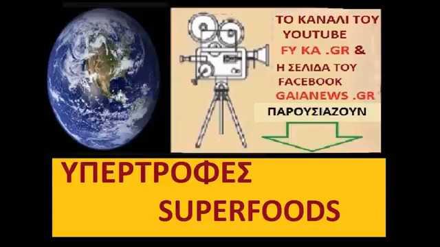 SUPERFOODS -ΥΠΕΡΤΡΟΦΕΣ -ΦΡΟΥΤΑ ΤΟΥ ΔΑΣΟΥΣ  (Μάρθα Στ. Καπλάνογλου Τεχνολόγος Γεωπόνος)