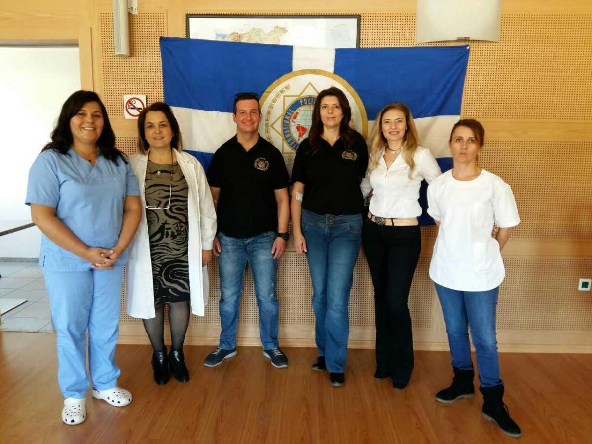 Με επιτυχία πραγματοποιήθηκε η 2η εθελοντική αιμοδοσία που διοργάνωσε η Τοπική Διοίκηση Κοζάνης της Διεθνούς Ένωσης Αστυνομικών, την Τρίτη 16 Οκτωβρίου 2018