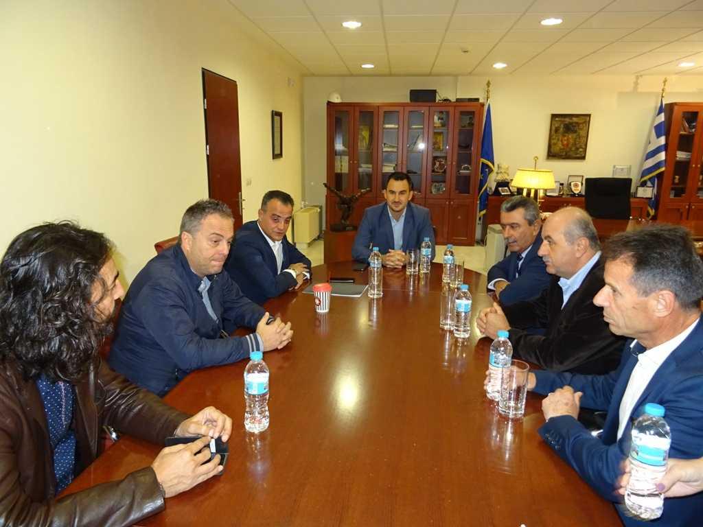 Συνάντηση στην Περιφέρεια, του Υπουργού Εσωτερικών Αλέξη Χαρίτση  με τον Περιφερειάρχη Θ. Καρυπίδη