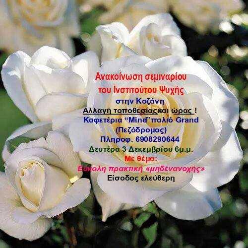 Σεμινάριο του Ινστιτούτου Ψυχής στην Κοζάνη με θέμα