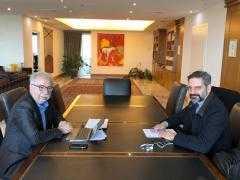 Συνάντηση με τον Υπουργό Παιδείας Κώστα Γαβρόγλου με το δήμαρχο Κοζάνης Λευτέρη Ιωαννίδη σχετικά με την προοπτική και το σχεδιασμό του νέου Πανεπιστημίου Δυτικής Μακεδονίας