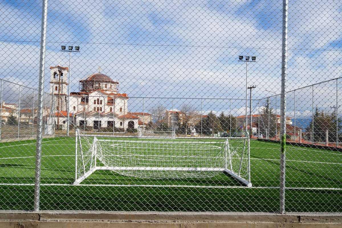 Ολοκληρώνεται το γήπεδο 5χ5 στην περιοχή Πλατάνια