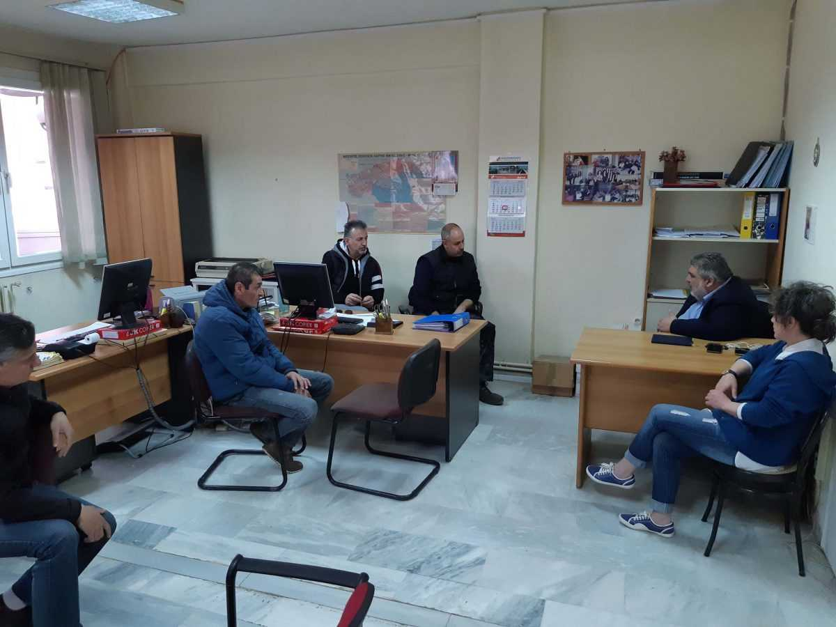 Συνάντηση του υποψήφιου Δημάρχου Εορδαίας Παναγιώτη Πλακεντά με το Προεδρείο και τα μέλη του Δ.Σ. εργαζομένων στην Δ.Ε.Υ.Α.Ε.