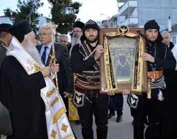 Υποδοχή (με Αρχηγού Κράτους) της Ιεράς Εικόνας της Παναγίας Σουμελά στην ΤΚ Λεβαίας την Παρασκευή 3 Μαϊου