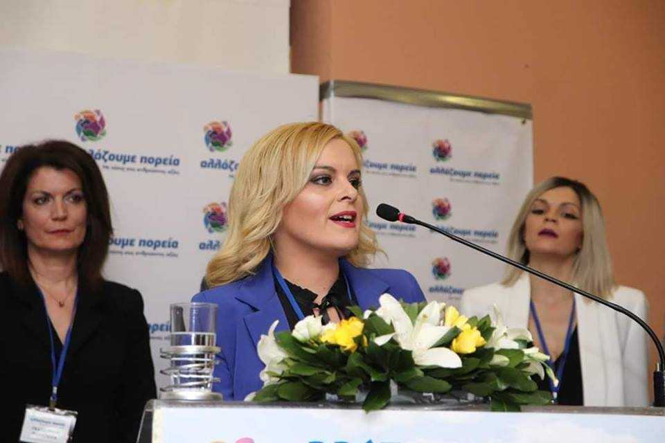 Η υποψήφια περιφερειακή σύμβουλος Θωμαή Ζαρκοδήμου με τον συνδυασμό