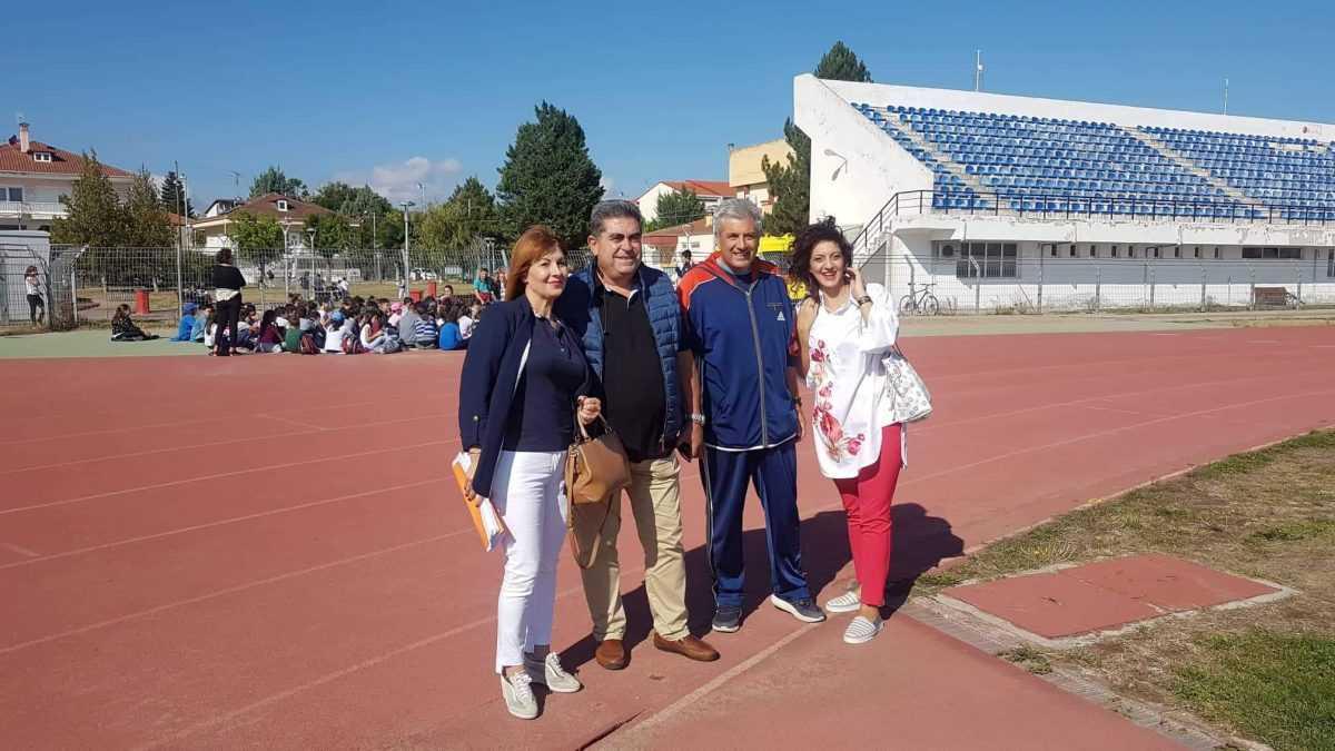 Επίσκεψη από τον Πρόεδρο του Ν.Π.Δ.Δ. Δήμου Τριπόλεως στις αθλητικές εγκαταστάσεις του Δήμου Εορδαίας.