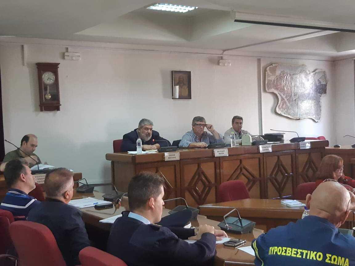 Συνεδρίαση του Σ.Τ.Ο. Πολιτικής Προστασίας Δήμου Εορδαίας.
