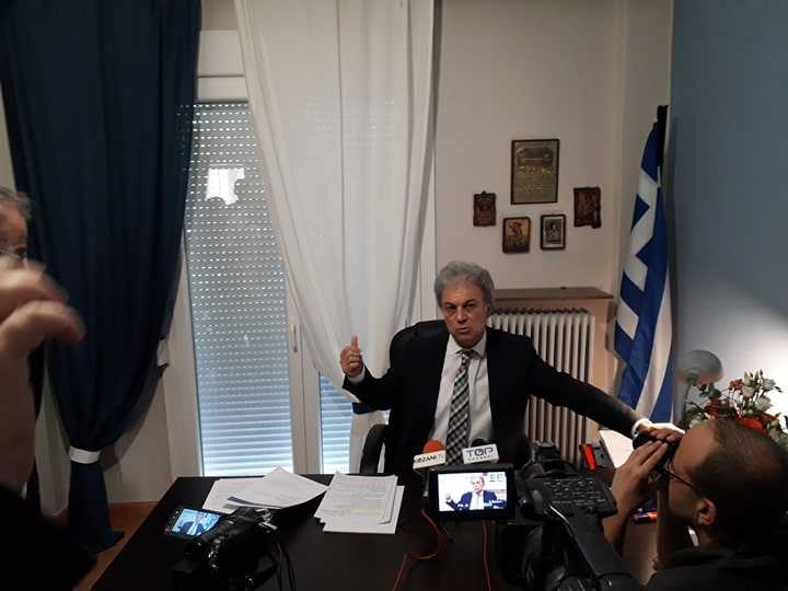 Ενημερωτική συνάντηση του Βουλευτή Κοζάνης Γιώργου Αμανατίδη πραγματοποιήθηκε σήμερα με εκπροσώπους των ΜΜΕ της Κοζάνης. Αναφέρθηκε μεταξύ άλλων στην μεταλιγνιτική περίοδο αλλά και για το ενδεχόμενο φιλοξενίας προσφύγων στην περιοχή μας