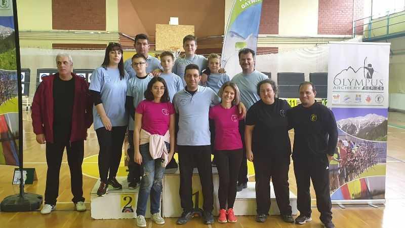 Συμμετοχή και επιτυχίες αθλητών του συλλόγου στον Πανελλήνιο Αγώνα Τοξοβολίας στις 17/11/2019
