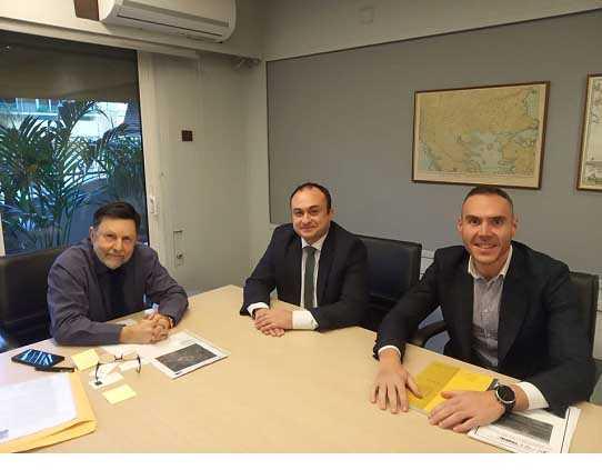 Συνάντηση εργασίας του Υφυπουργού Χωροταξίας και Αστικού Περιβάλλοντος  Δημήτριου Οικονόμου για το ζήτημα της αποκατάστασης των ορυχείων της ΔΕΗ Α.Ε. στο πλαίσιο της Δίκαιης Μετάβασης για την Περιφέρεια Δυτικής Μακεδονίας, με τον  Αντιπεριφερειάρχη Περιφερειακής Ανάπτυξης Νικόλαο Λυσσαρίδη.