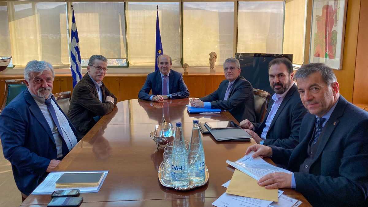 Στη συνάντηση Κ. Χατζηδάκη και Γ. Θωμά με τους Δημάρχους των λιγνιτικών Δήμων, ο Δήμαρχος Κοζάνης, Λάζαρος Μαλούτας